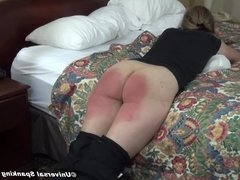 Daughter Gets the Razor Strap - (Spanking)