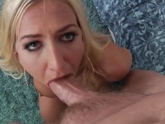 Busty blonde Quinn Waters takes big dick up to her ass