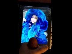 Cum Tribute for a Girl in a Fur Coat