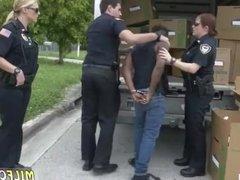 Hot milf anal Black suspect taken on a