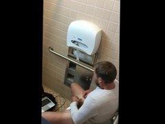 Guy Caught Jerking Off In the Men's Room