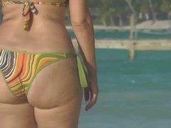 Nice big butt on the beach