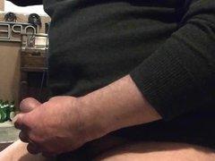 Masturbating in a Green Sweater