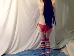 Sissy with a fleshlight and buttplug PMV