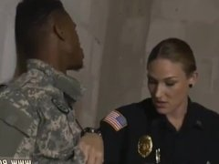 Hot milf oiled first time Fake Soldier Gets