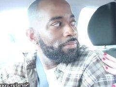 Busty Milf Sara Jay fucks Her Hot Black Ride Share Driver!