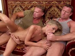 Extrem Hot Skinny Teen Get Double Penetration by two Boys