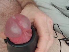 Vibrating cock ring, edging and cum