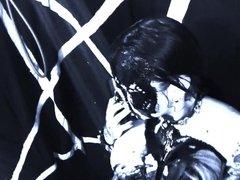 Busty Goth Satanist Takes Black Shower