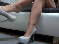 Shoe Dangling with High Heels