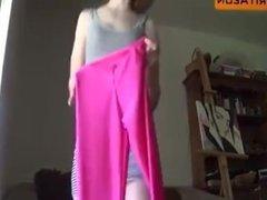 Hot redhead MILF ignore her minidress is way too short! enjoy upskirt view!