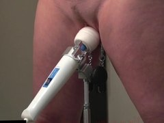 Super screaming Orgasm with Magic Wand and Pussy Clamps BDSM