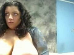 Giant boobs on cam