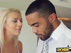 BANGBROS - Petite Blonde Gets Young Pussy Stretched By Big Black Cock