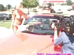 mm hot whore slutty bikini car wash (non nude)