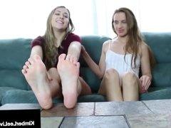 Kimber Lee & Ashlynn Taylor Do A Sexy Horny Foot Fetish Show