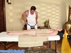 Massage amateur facefucked before jerking