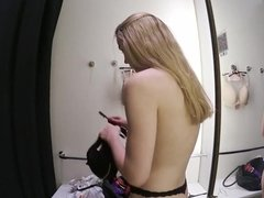 Beautiful huge tits teen in changing room