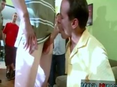 Gay man use dildo at party on self movie