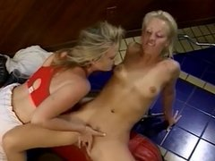 Lesbian Strap On Sex At The Gym