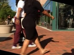 Ebony Dress Hump Has Her Lick-Her-License!