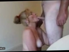 Mouth my wife Ann gets overloaded with cum