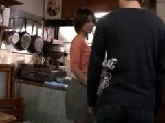Japanese housewife  milf seduces son's friends - 1