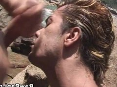 Two Gay Dudes Enjoy Some Hard Fucking at the beach