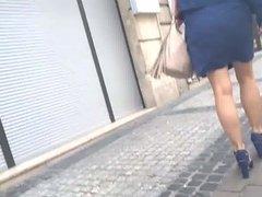 Nice legs and blue heels 1