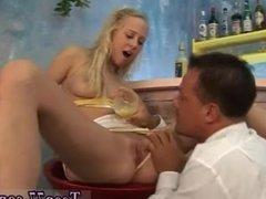 College dorm blonde amateur Sweet Terry