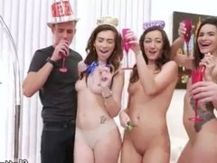 Big tit babe orgy xxx New Years Eve Party