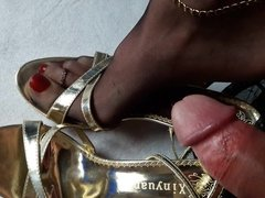 Feet in Nylons and Heels Piss Compilation