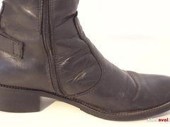 My Sister's Shoes: Black Leather Boots I 4K