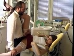 Dentist chair hairy chick