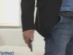 European newbie banged on leaked sextape
