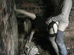 Wife pounded by stranger outdoors