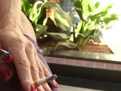 Carla Sexily Smokes her Cig and Teases