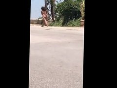 Naked in the street