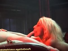 real fuck on public show stage