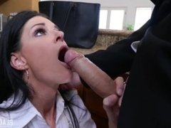 India Summer Blackmailed MILF Pays Husbands Debt Blackmailed