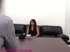 Latina Teen Massive Cum Facial on Casting Couch