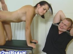 Euro gf fucked in front of cuckold boyfriend