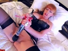 MILF Slut Red uses new toy and has multiple orgasms