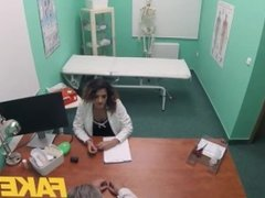 Fake Hospital Double helping of doctors hot cum for sexy Spanish student