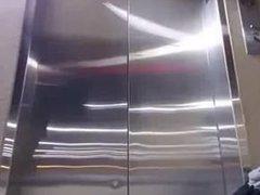 Dare to ride a dildo in the elevator