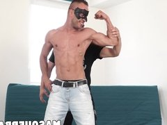 Yanik and  Ryan involved in blowjobs and raw jacking off