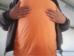 Mi bra y panties en el trabajo