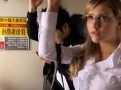 blonde on a japanese train
