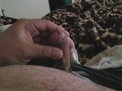 Small uncut cock cumming