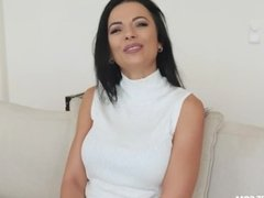 Gorgeous busty MILF Shalina Devine has sex with her bf and gets a creampie
